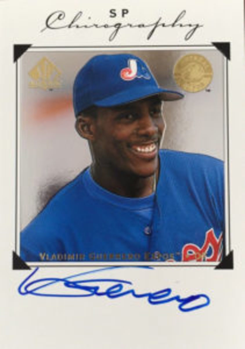 There are plenty of Vladimir Guerrero autographs available on the market for less than $50.