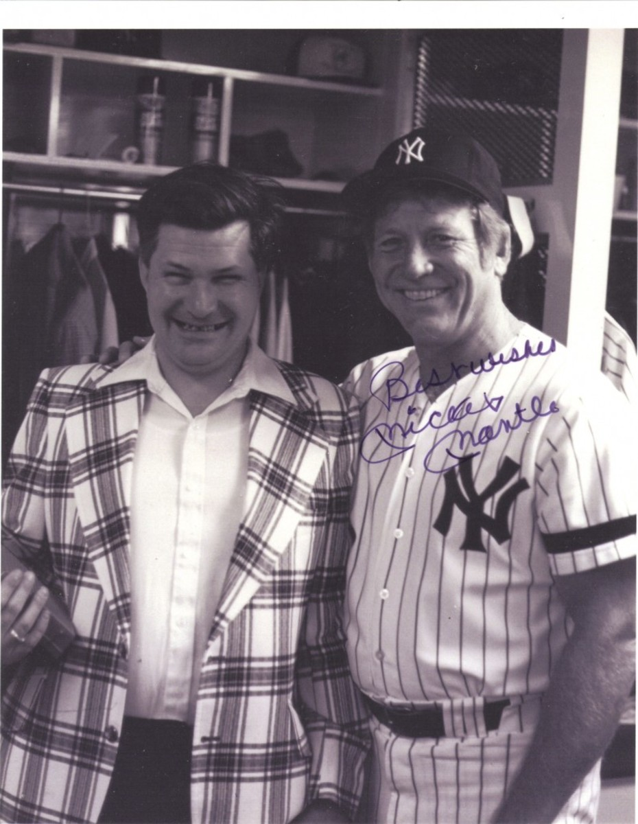 Ed and Mickey Mantle, 1981.