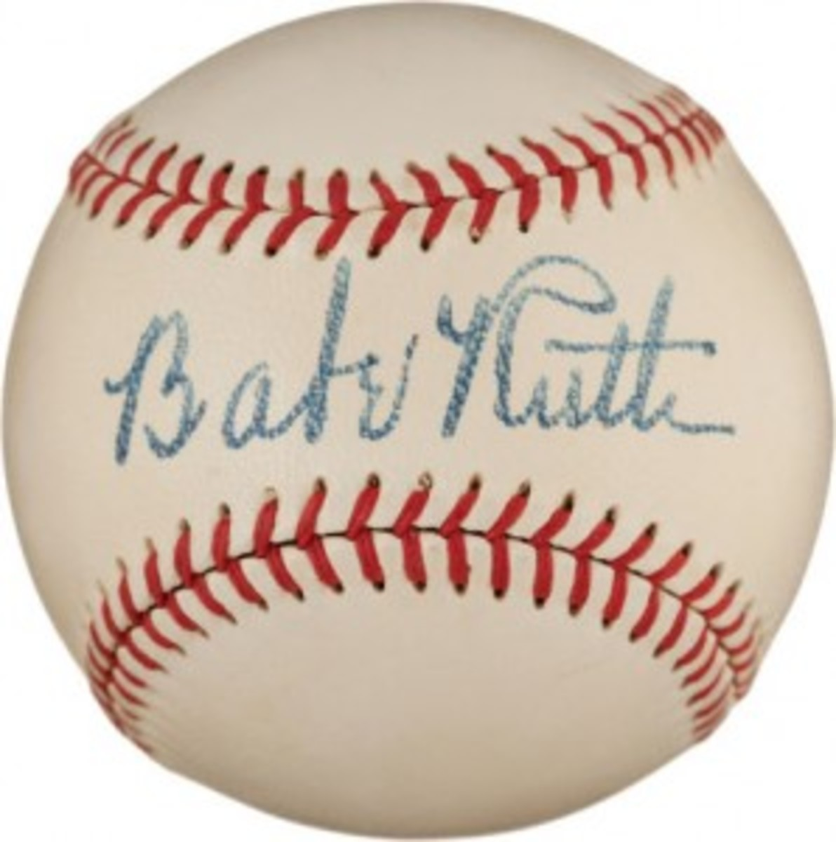 Finest known Babe Ruth single-signed ball, estimated at $300,000+