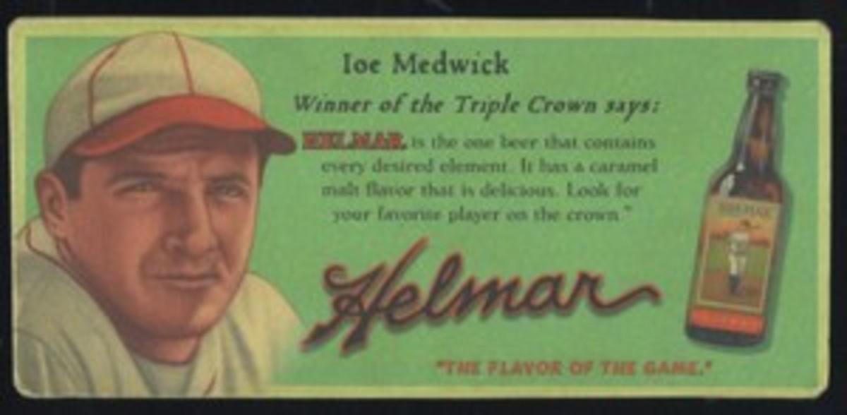 Helmar Trolley Card series No. 24 Joe Medwick of the St. Louis Cardinals.