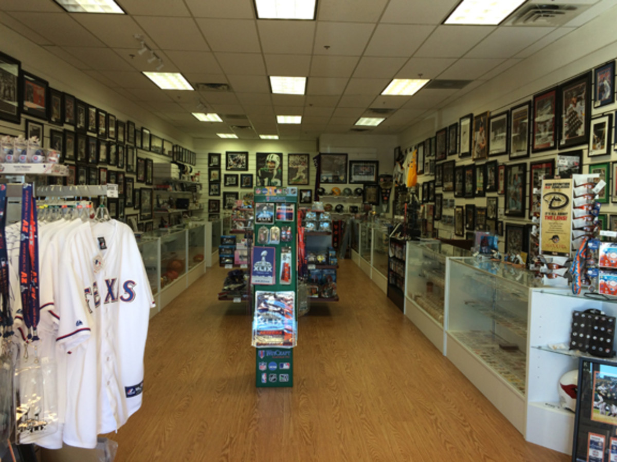 Johnson has opened up a store in 2014 called Cactus League Sports, featuring 1,400 square feet of sports memorabilia. He said Arizona is unique in terms of sports fans because everyone relocated to the area from somewhere else.