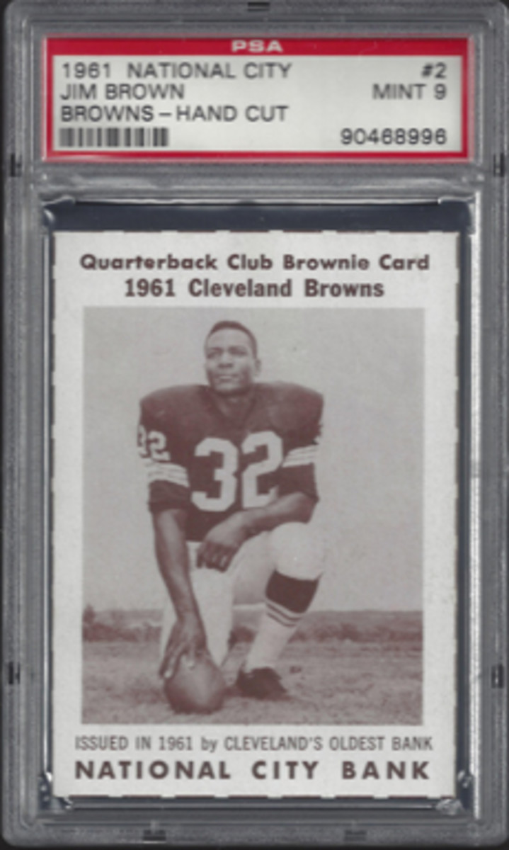 The card that reignited Kermit Pike's collecting passion and led to the No. 1 Jim Brown Master Set – 1961 National City Bank Jim Brown.