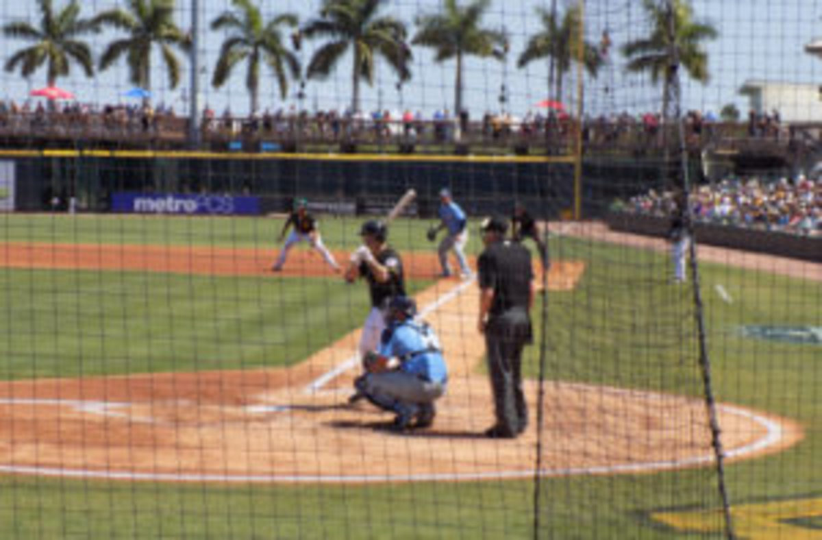 With palm trees in the background, watching a game in Bradenton can be a relaxing activity.