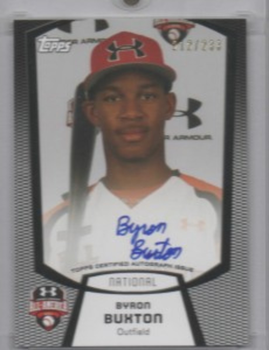 Less than two years ago, Byron Buxton was leading his high school team to a state championship. Now collectors are banking on him to succeed professionally.