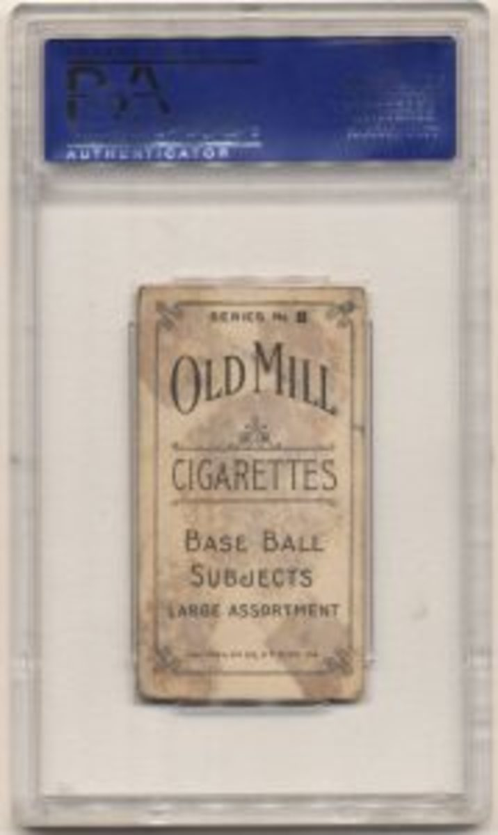 Old Mill card reverse