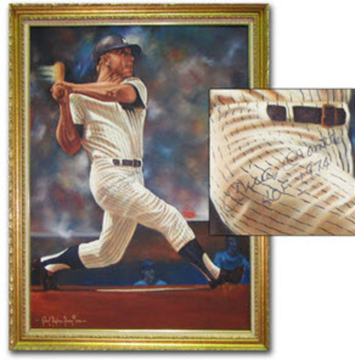 Mickey-Mantle-signed-painting