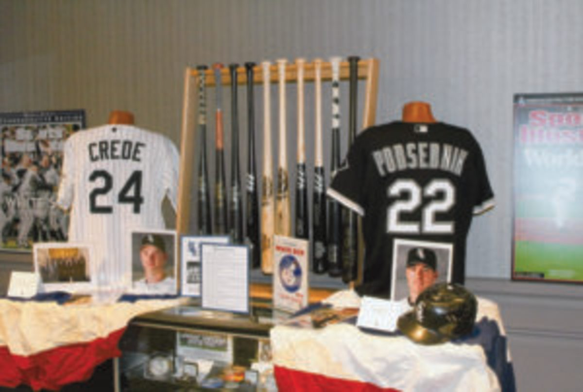 One of the exhibits in the History Room at SoxFest 2019.
