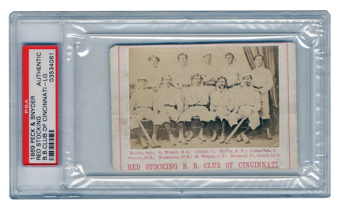1869 Peck & Snyder Cincinnati Red Stockings CDVOL