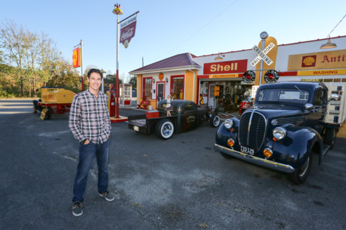 Joey Logano is a car guy through and through. When he's not racing, he's acquiring petroliana and automotive relics, from gas station signs to vintage vehicles. All of it is stored at his racing headquarters in North Carolina.