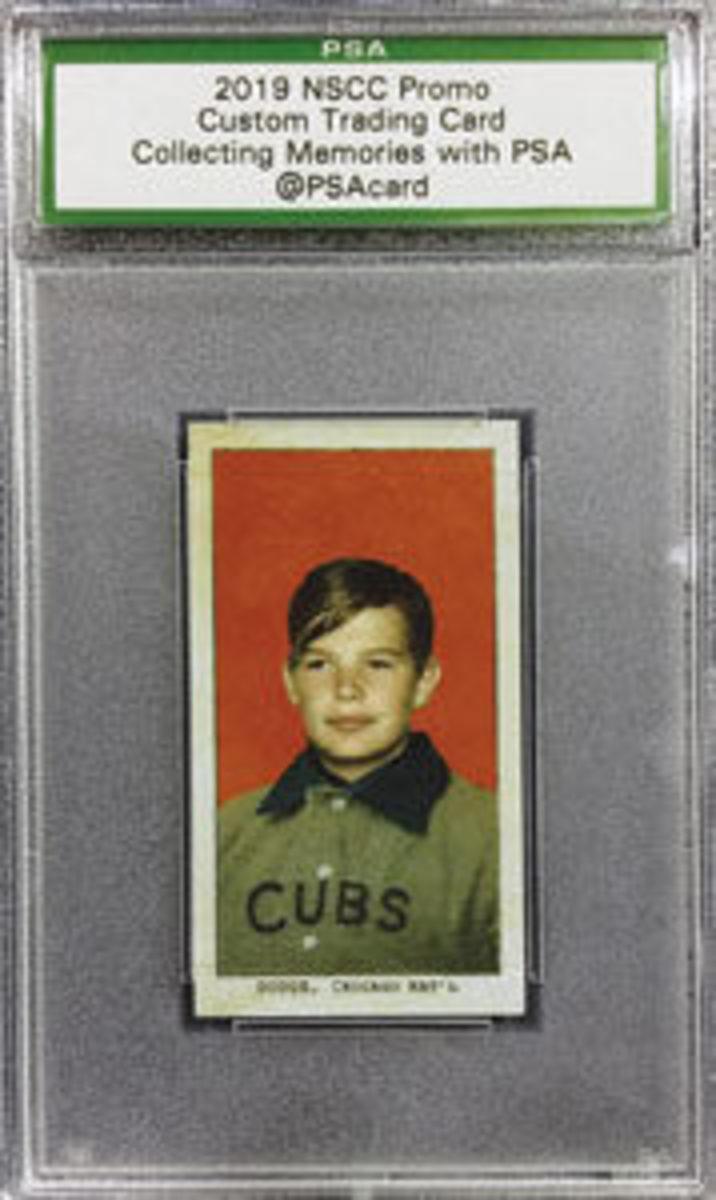 Custom Cubs card. Photo courtesy of PSA