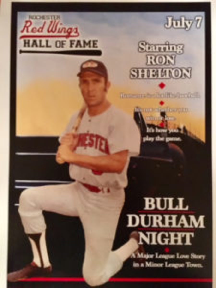The program from the night Ron Shelton was inducted into the Rochester Red Wings Hall of Fame.