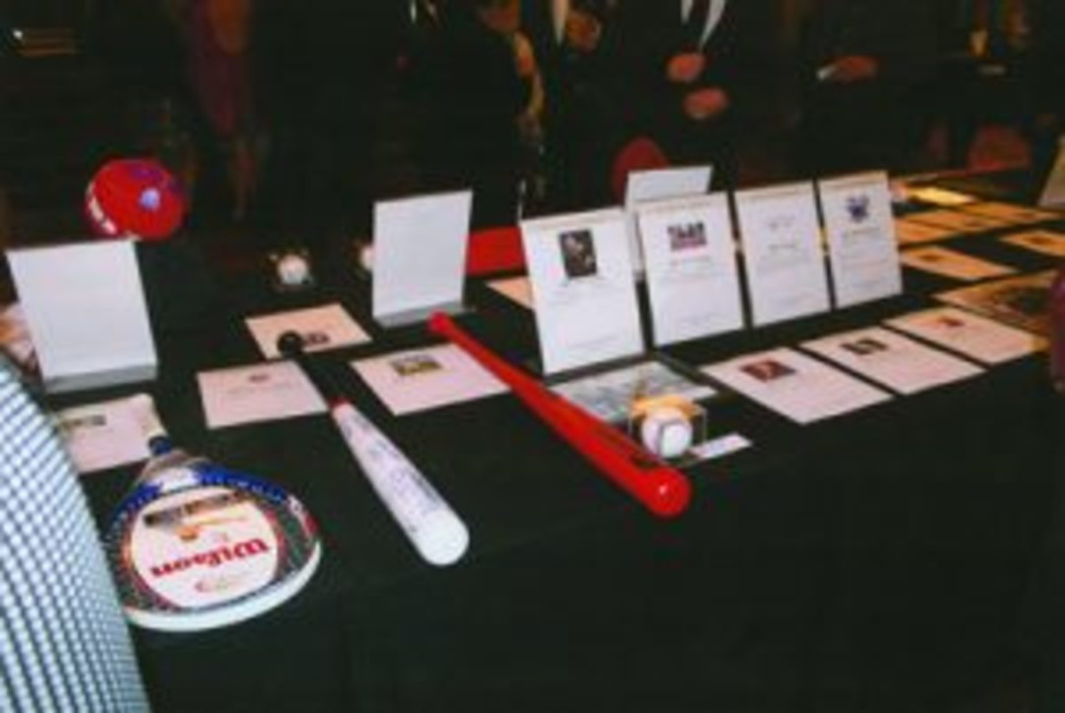 A sampling of the silent auction items that were available for attendees to bid on. (Rick Firfer photo)