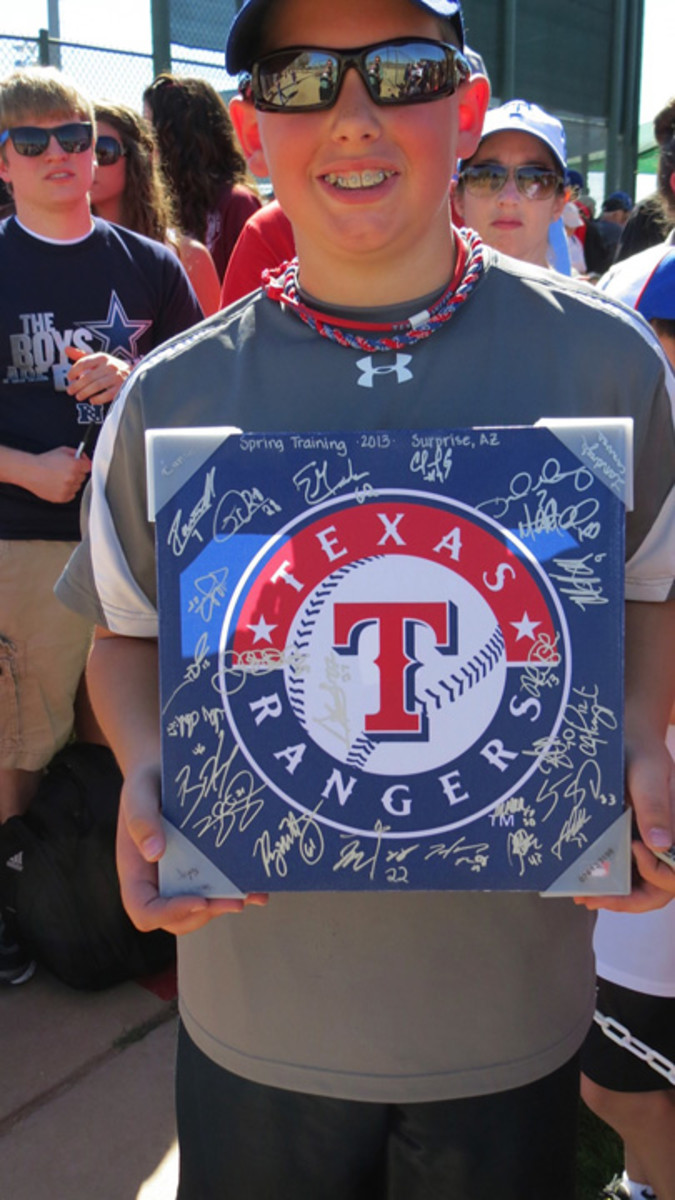 This Rangers fan was able to secure approximately two dozen signatures in a two-day span.