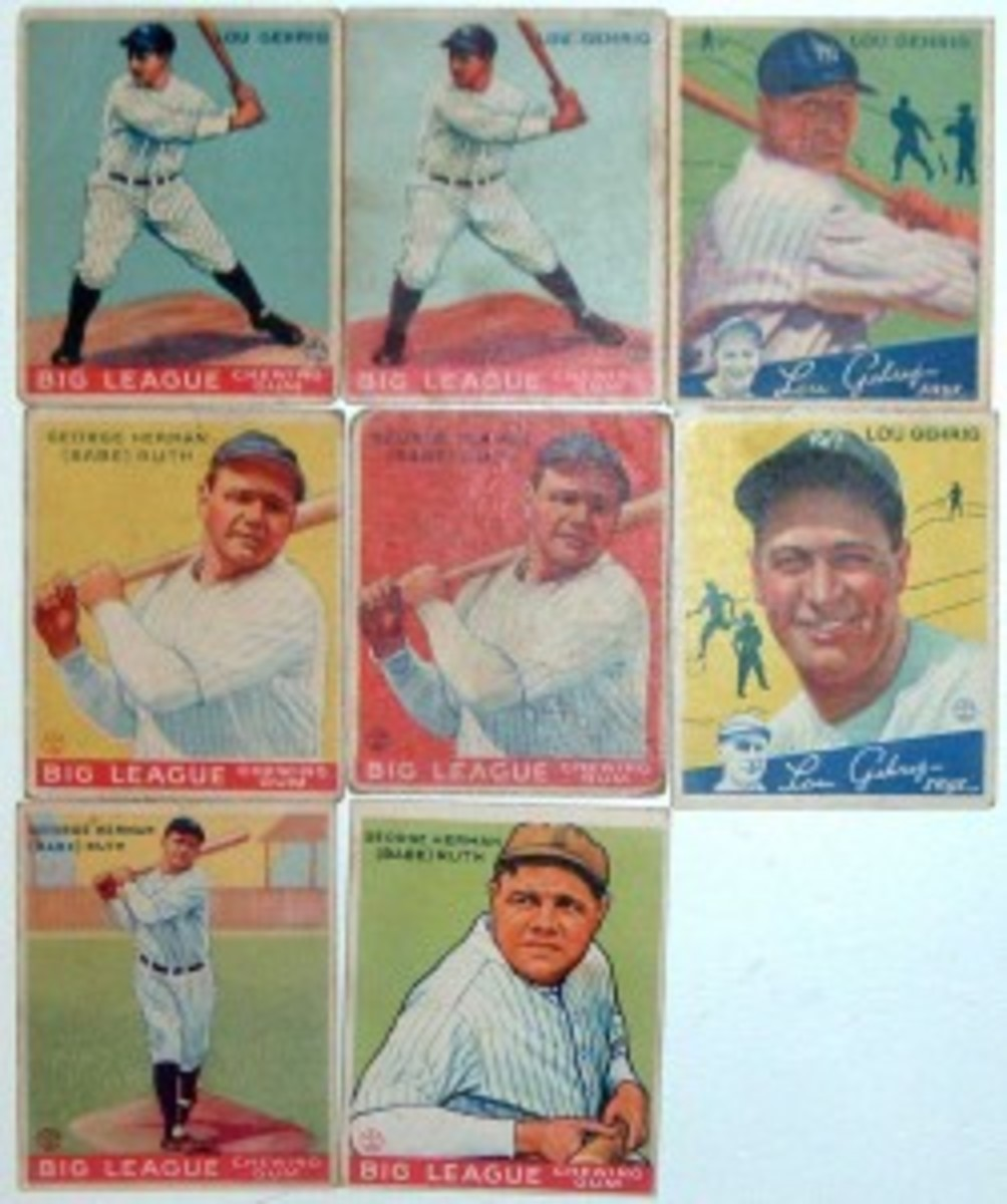 Babe Ruth Goudeys have increased in value very well, more rapidly than Lou Gehrig.