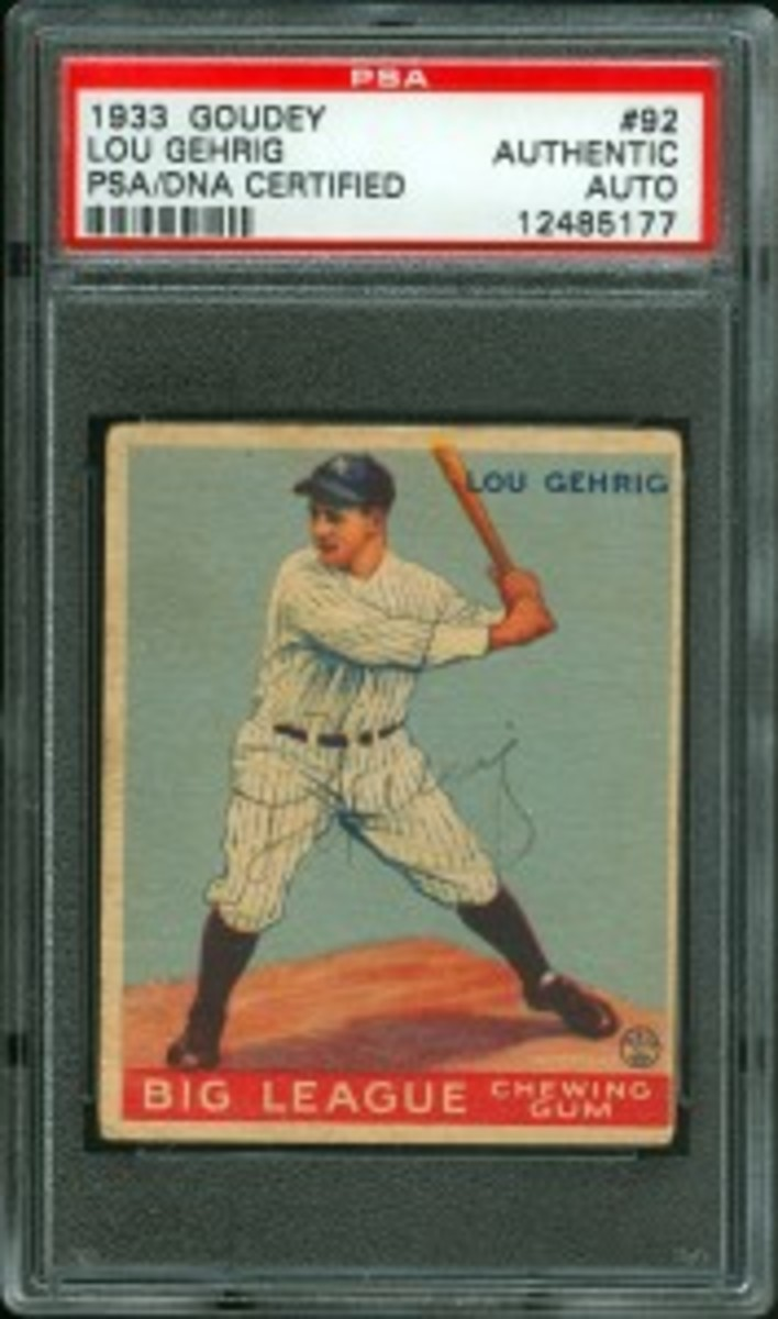 1933 Goudey Gehrig Auto - LOTG Auctions