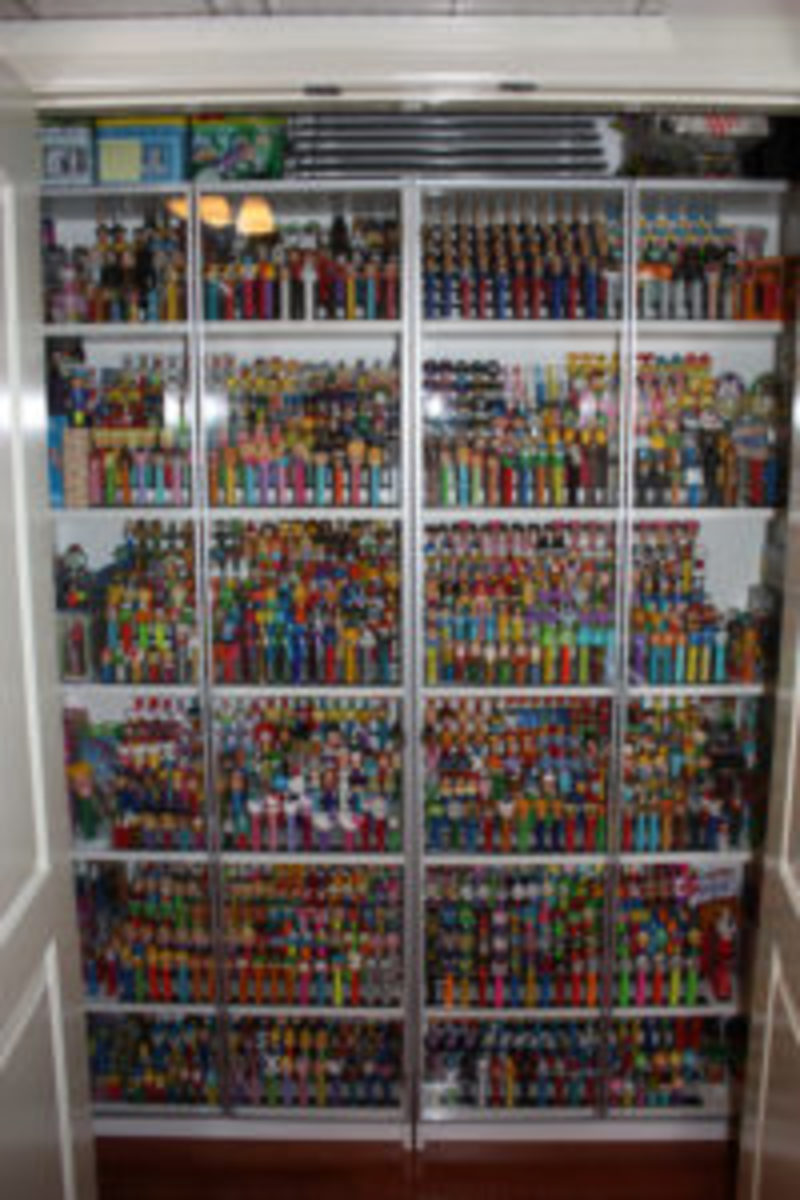 The Pez dispenser collection that Brian Jaskoslki has accumulated includes sports and non-sports dispensers.