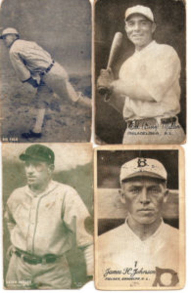 During the 1920s, ESCO produced baseball players and boxers, one image per card with various formats. Some had postcard backs.