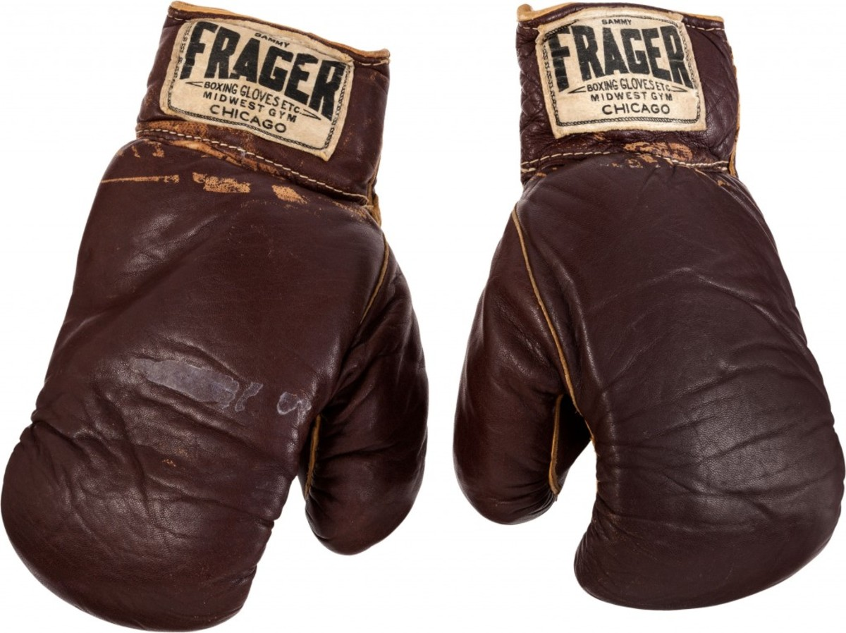 Among the leading items Heritage Auctions has sold is this pair of boxing gloves Cassius Clay used in his first bout against Sonny Liston for $836,500. Photo courtesy of Heritage Auctions