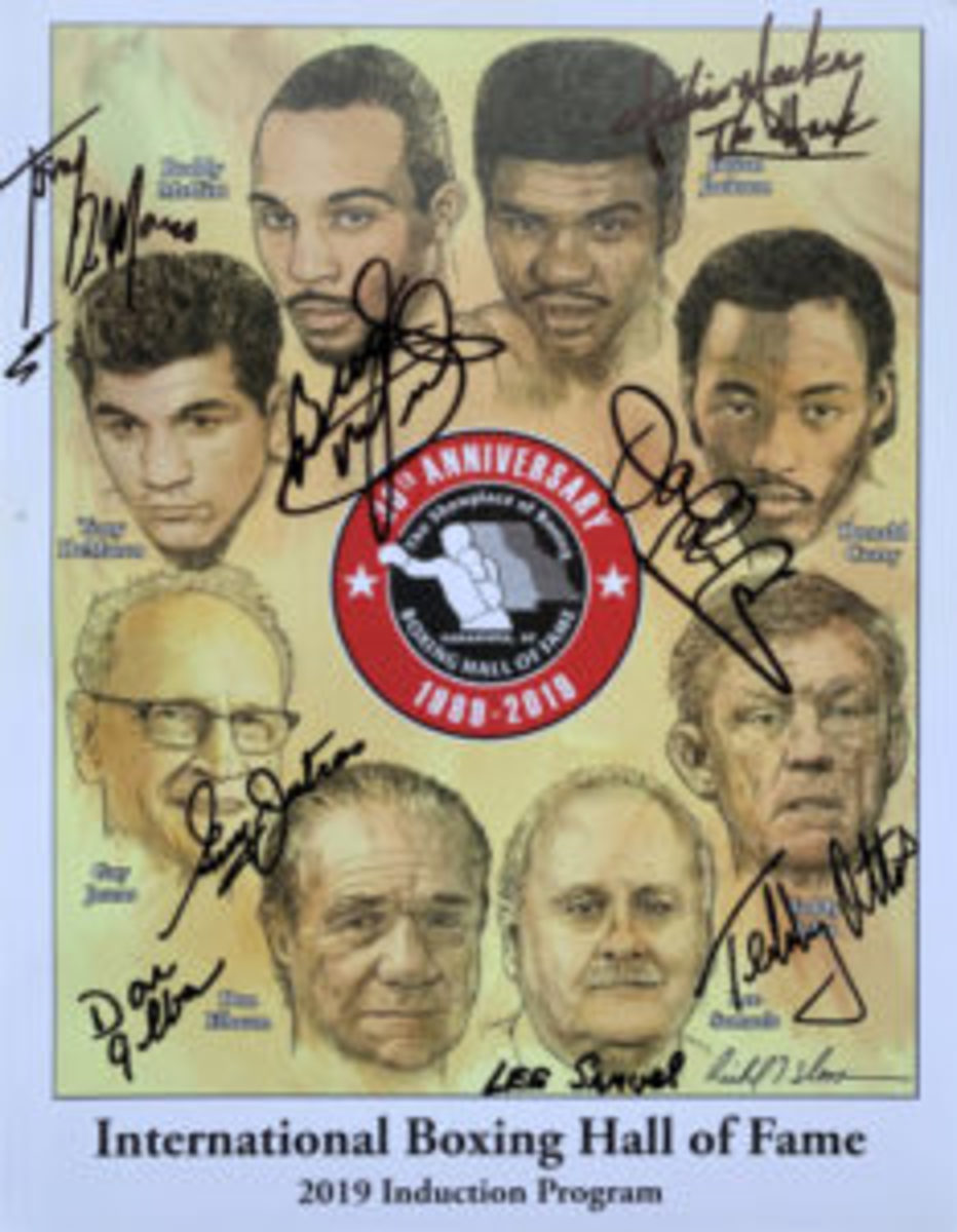 The cover of the program for the 2019 International Boxing Hall of Fame Induction Progam. (Robert Kunz photos)