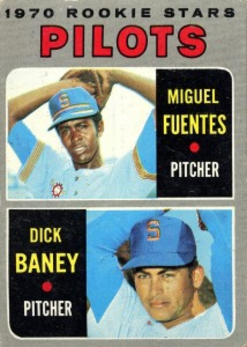 The ill-fated Miguel Fuentes appeared on a 1970 Topps card that was already in the distribution pipeline when he was shot to death in his native Puerto Rico.