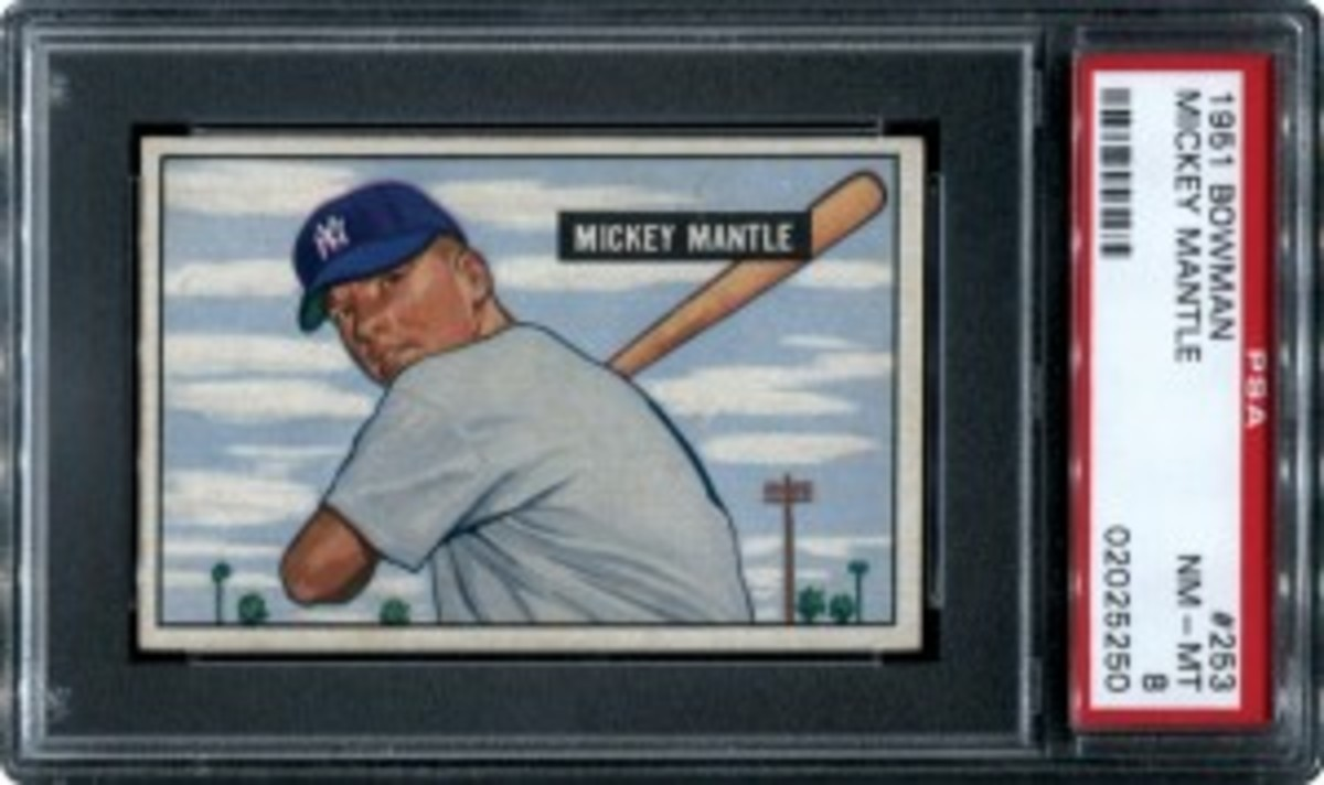 Lot 120 1951 Bowman Mantle PSA 8