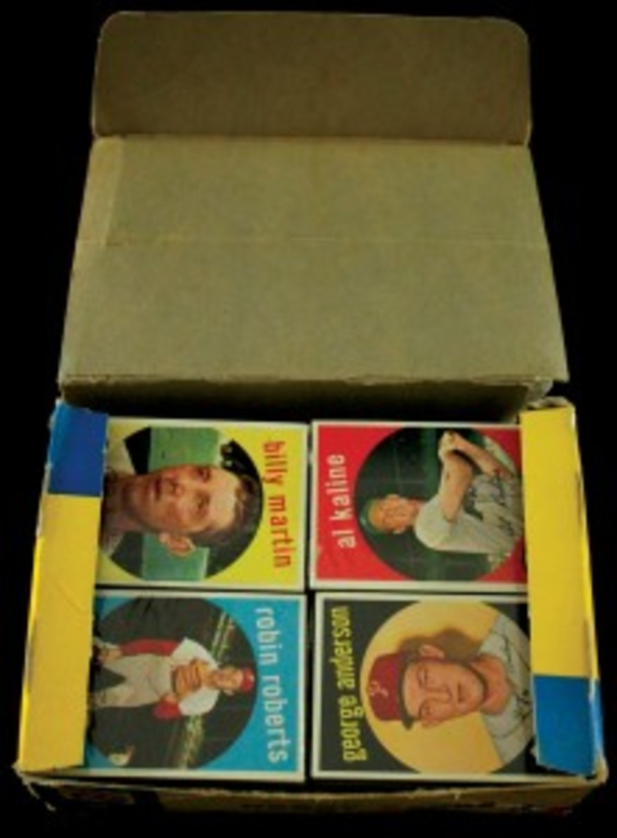 Nice lot: a 1959 Topps cello box brought $44,948.