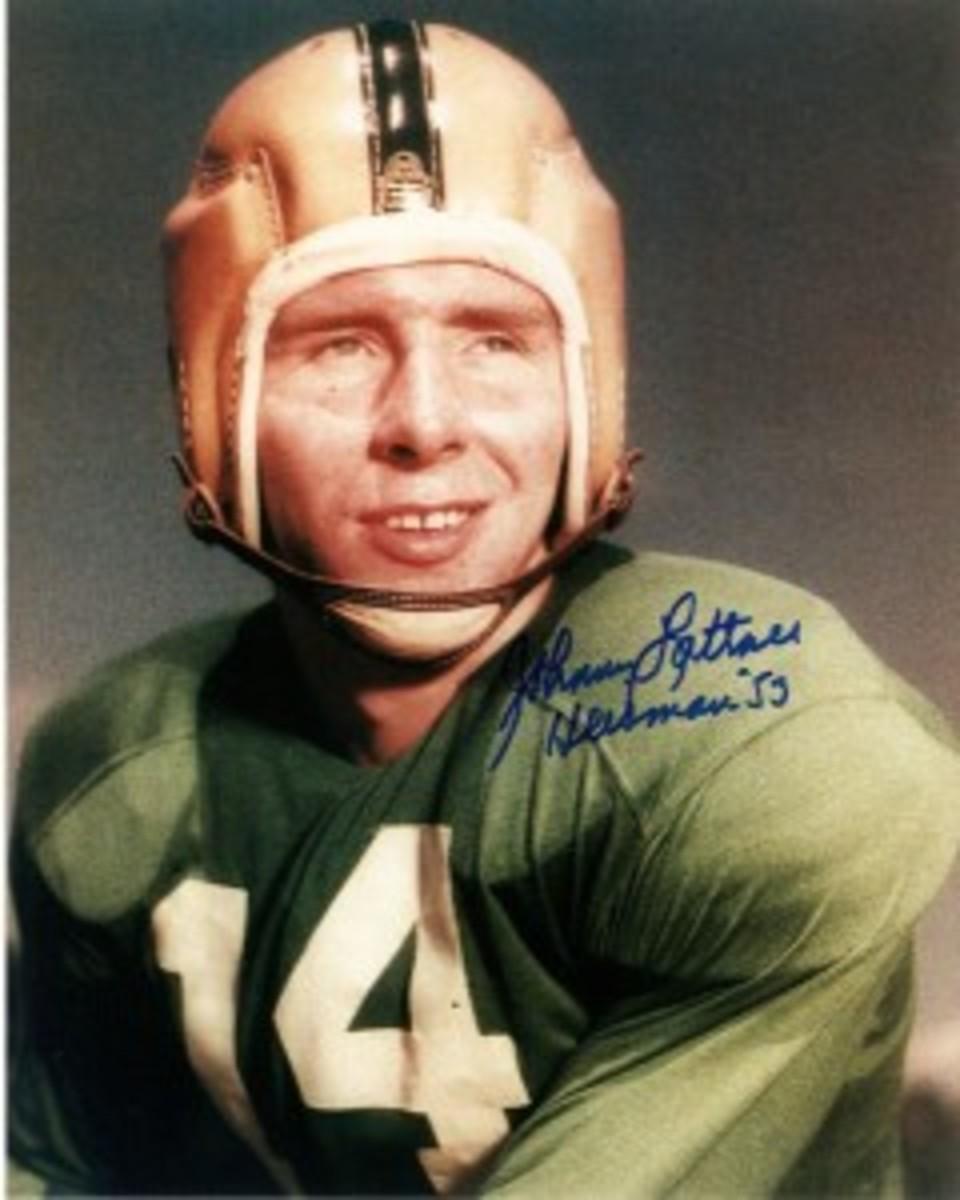 1953 Photo of Johnny Lattner