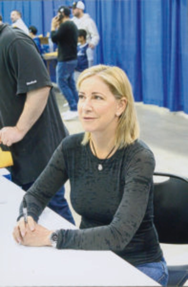 Tennis star Chris Evert (Rick Firfer photo)