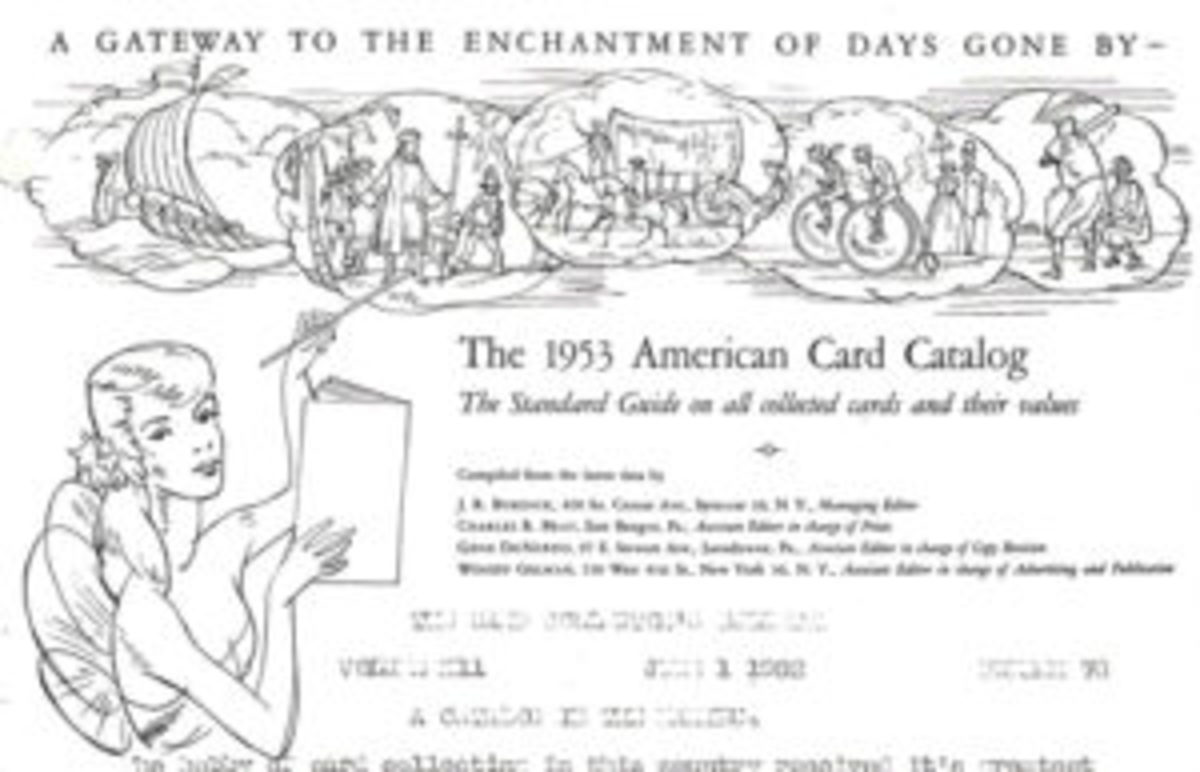 Letterhead used by ACC publishers in 1952 from Card Collectors Bulletin.