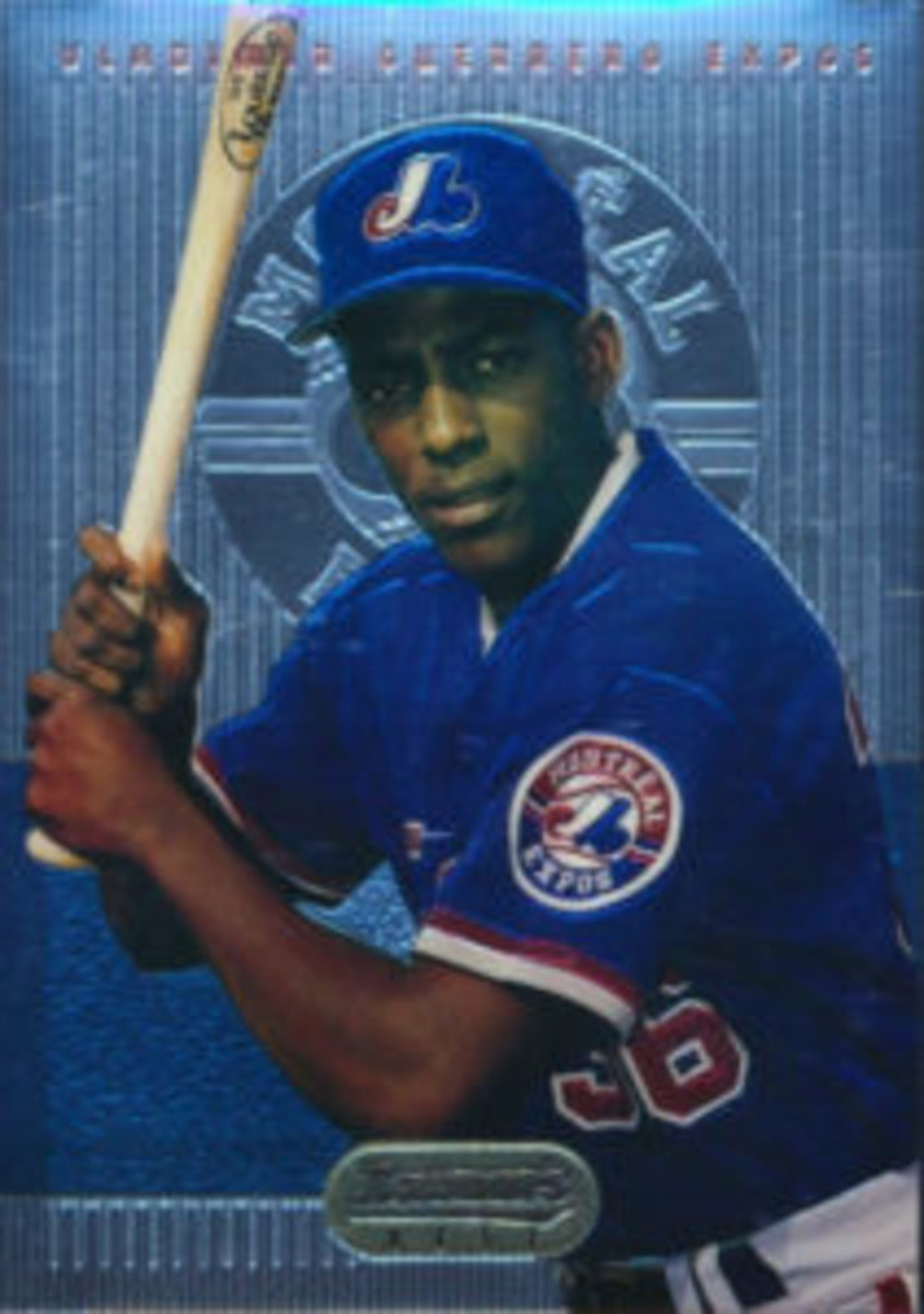 The 1995 Bowman's Best (No. 2) Vladimir Guerrero card is one of his top rookie cards.