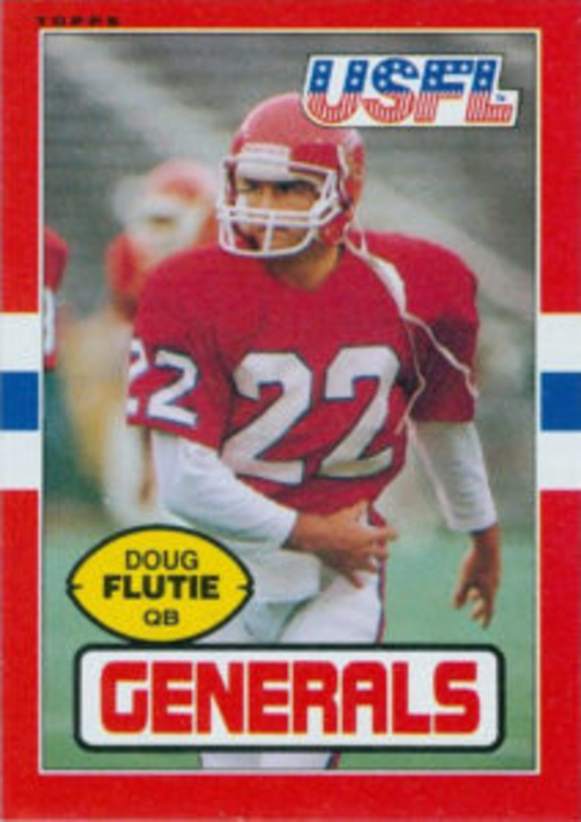 The 1985 Topps USFL Football card set also included a number of players who would go on to play in the NFL.