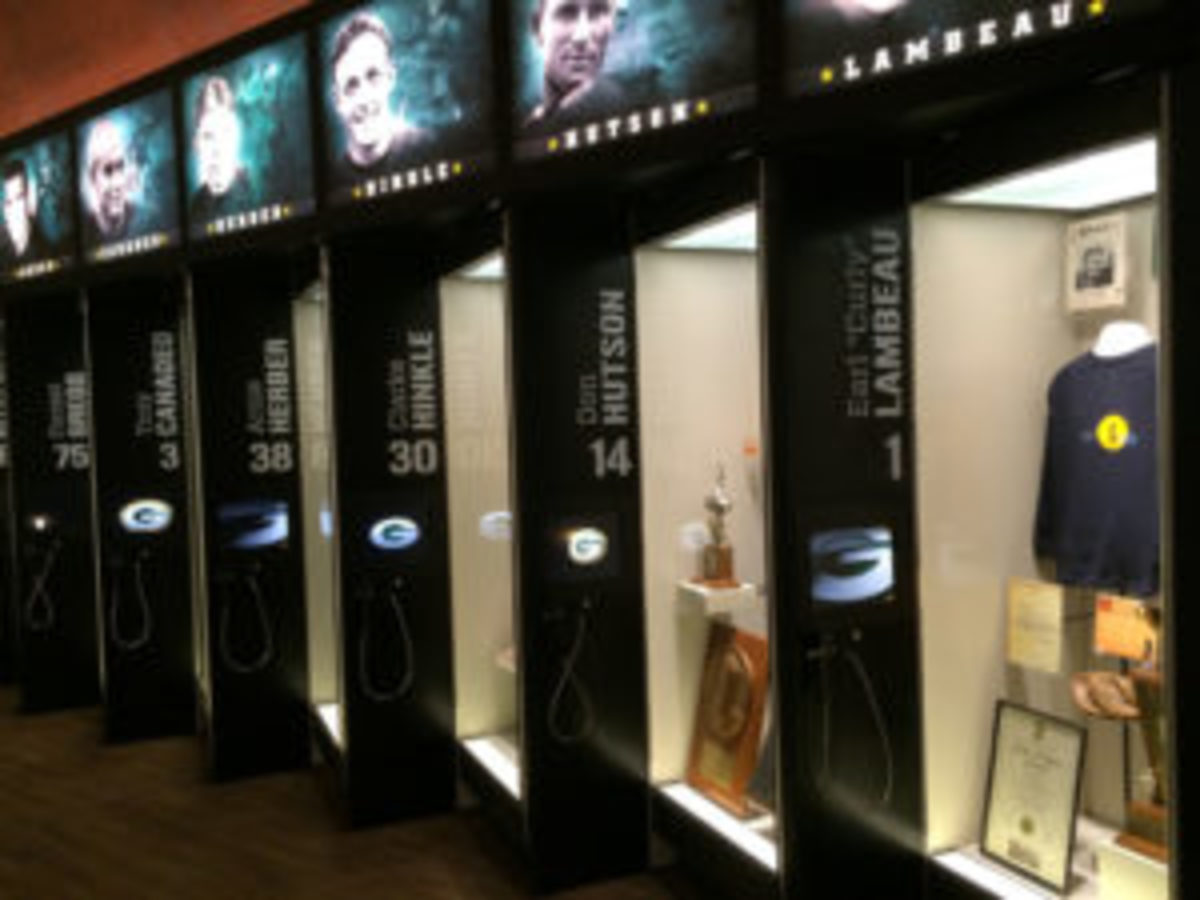 A locker exhibit has been created in the Green Bay Packers Hall of Fame for each member of the Green Bay Packers who has been enshrined in the Pro Football Hall of Fame.