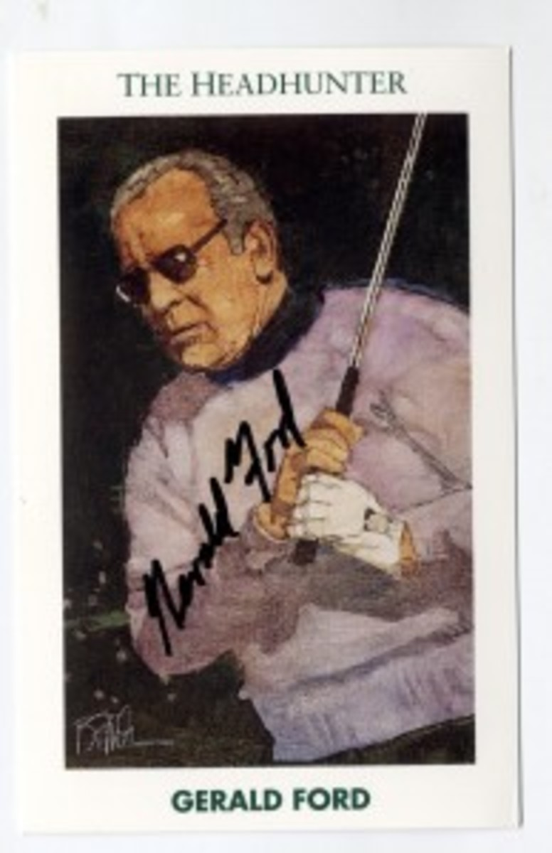 Todd Mueller Enterprises signed Ford golf cards sell for $150-$175.