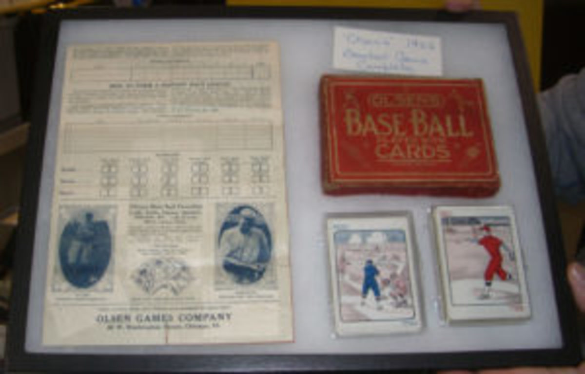 An Olsen's 1922 Baseball Game was for sale for $1,000. Many longtime dealers said they had never seen the game before. (Ross Forman photo)