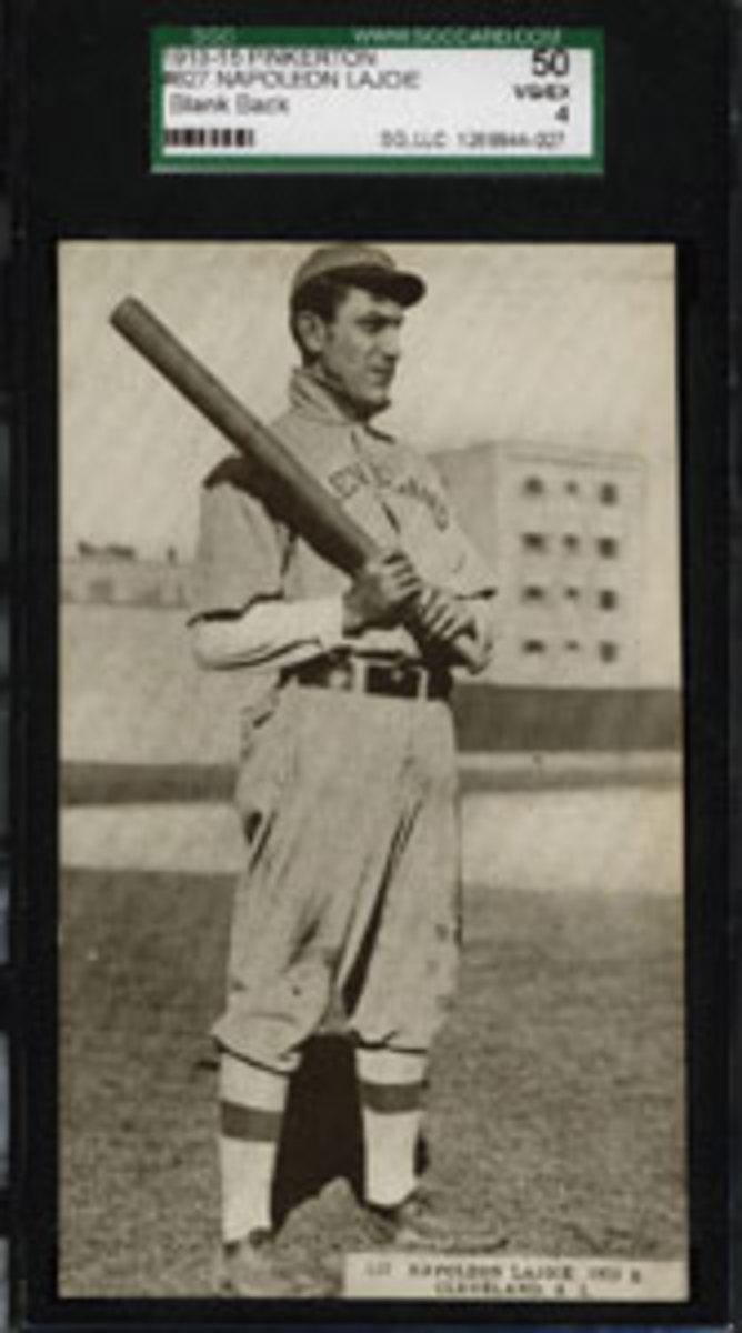 "Napoleon ""Larry"" Lajoie, 1913-1915 Pinkerton Scorecard blank-back postcard."