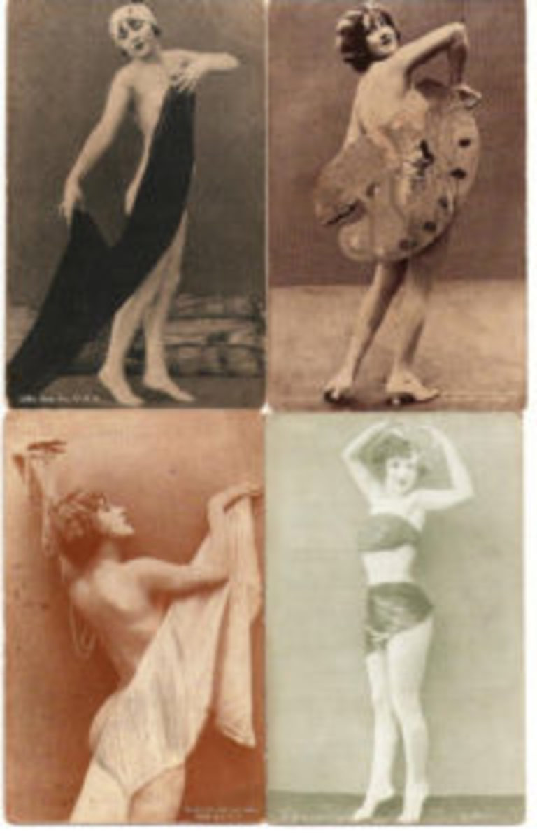 "The earliest 1914 arcade cards by ESCO likely included ""art models."" (Unless indicated differently, all the Exhibit cards are scans by George Vrechek from his personal collection.)"