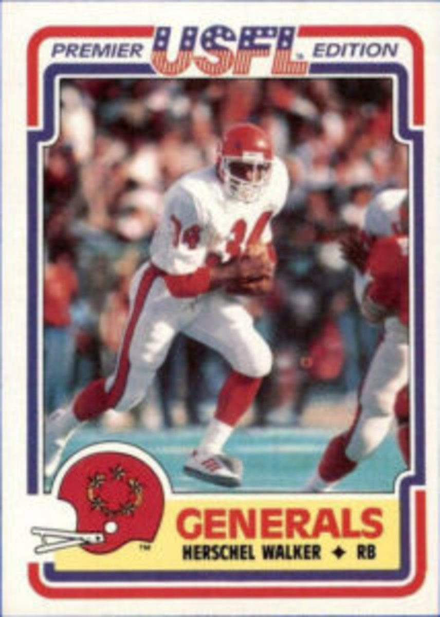 The signing of Herschel Walker helped put the USFL on the map with football fans and collectors.