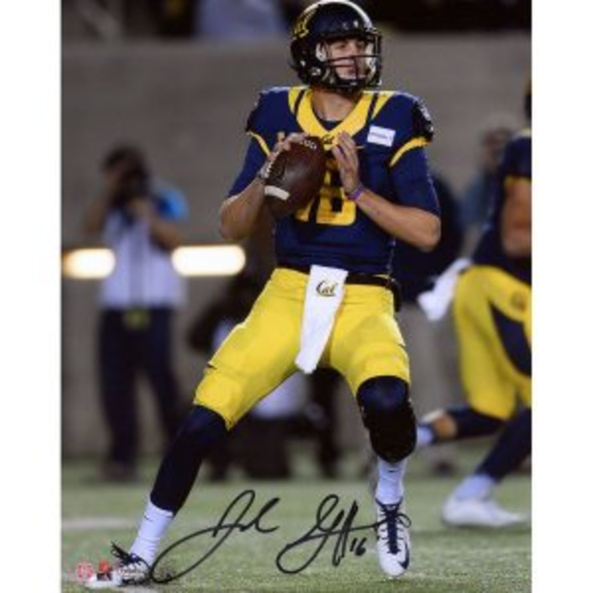 Fanatics Authentic is offering 8-by-10 signed photos of Goff for $120.