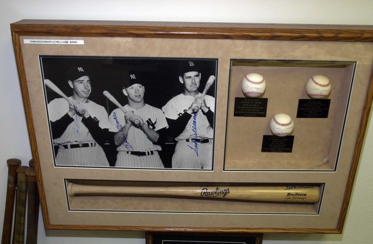 "The asking price for this lovely but corrupt package – a shadow box frame of Big Three ""signed"" memorabilia – was $4,995."