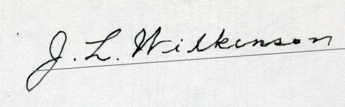 A common Wilkinson secretarial signature.