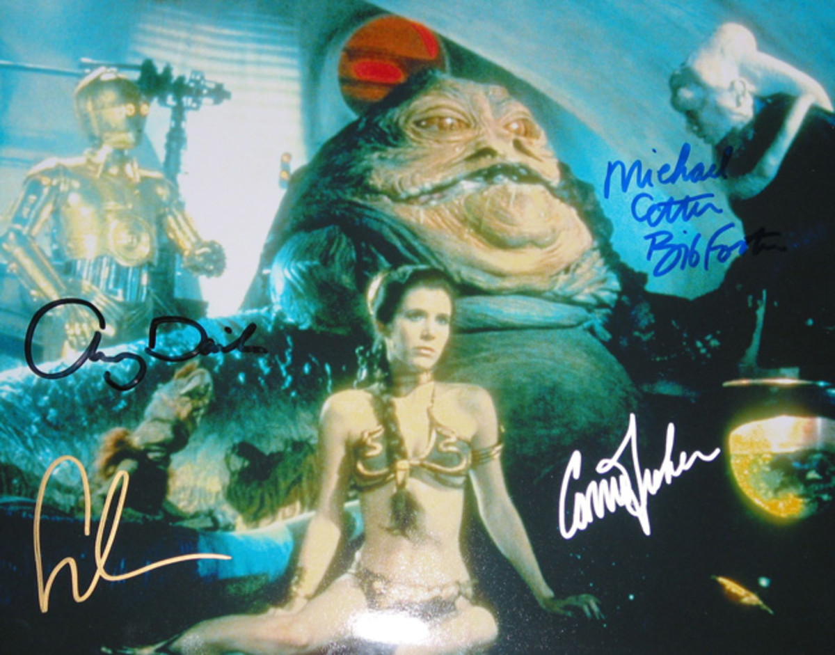 """These signatures, all fake, are of the actors who played roles in """"Star Wars."""""""