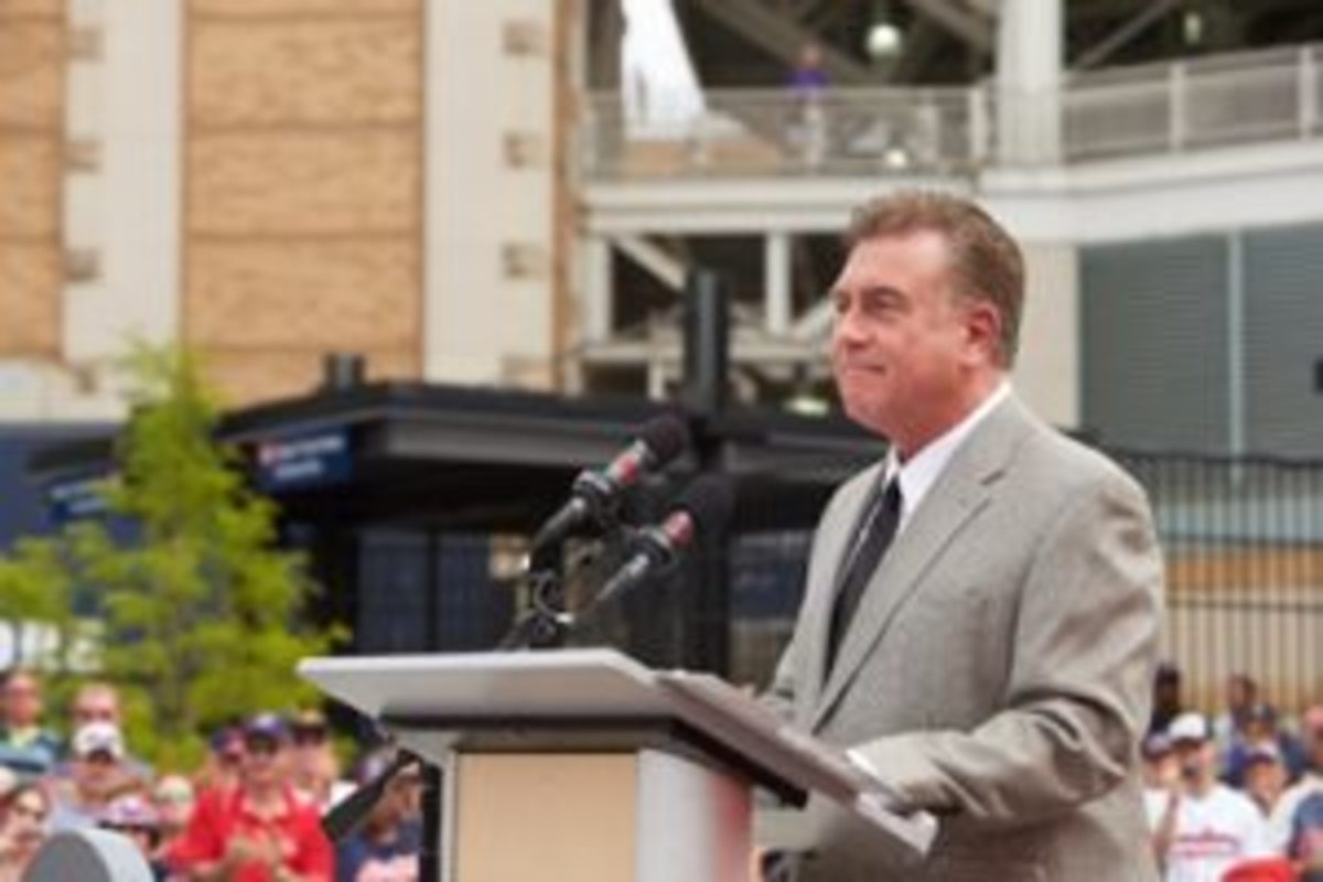 Tom Hamilton has become an iconic voice in Cleveland. (Courtesy the Cleveland Indians.)