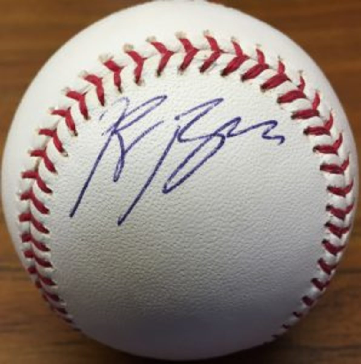 Sports Collectors Digest Editor Bert Lehman obtained Ryan Braun's autograph at Spring Training in 2007.