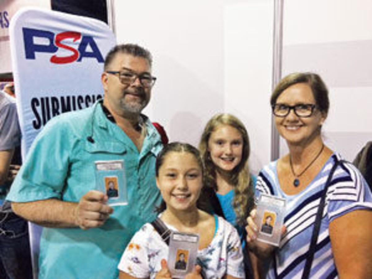 The Nicholson family from Atlanta proudly holding their cards.Photo courtesy of PSA