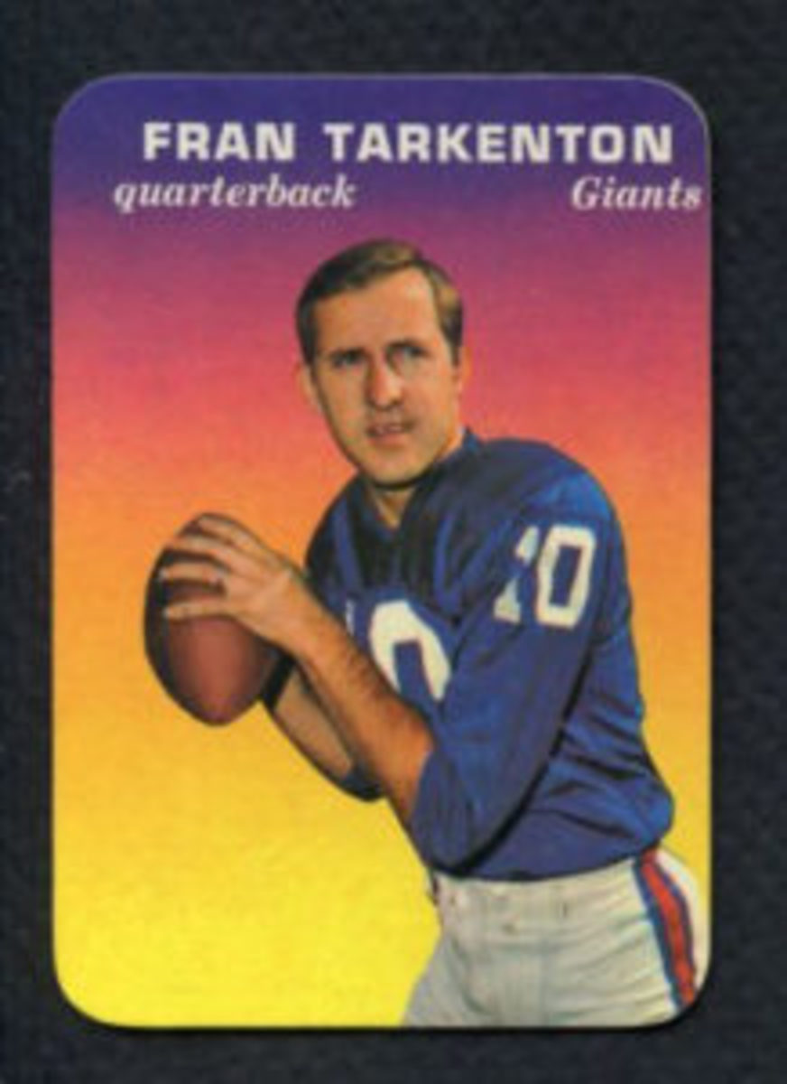 The Fran Tarkenton Super Glossy card released by Topps in 1970.