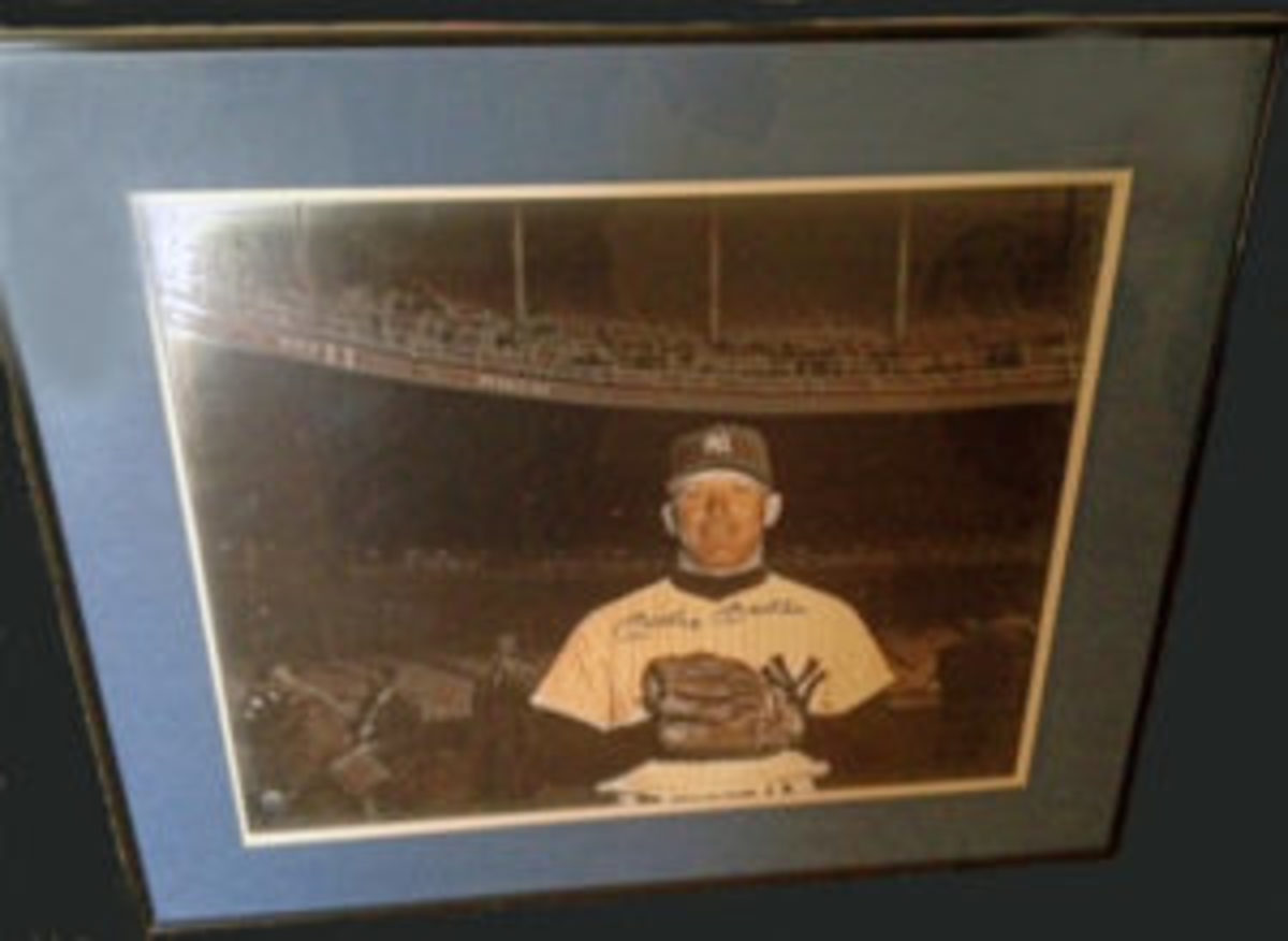 A signed Mickey Mantle print found at an antique/flower shop. Purchase price: $25. (Submitted photo)