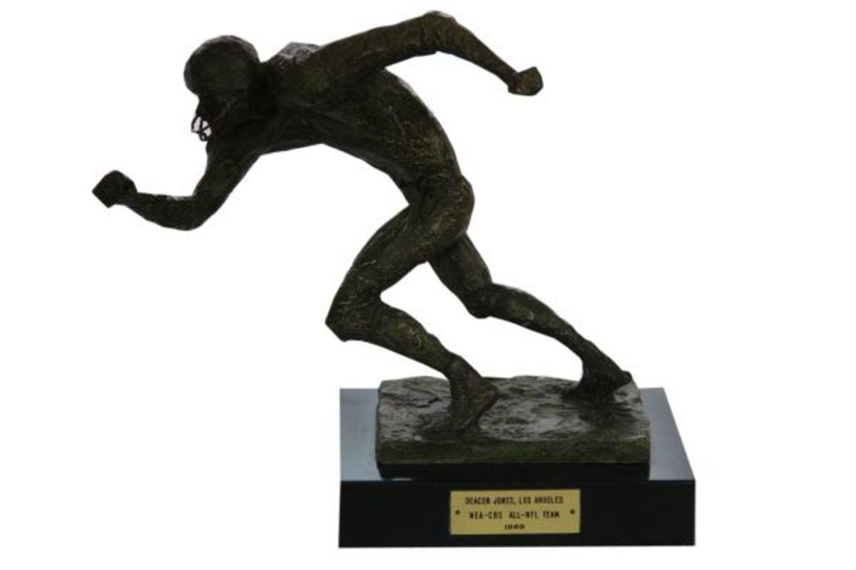Deacon Jones 1969 and 1969 MVP awards will be through through Steiner Sports