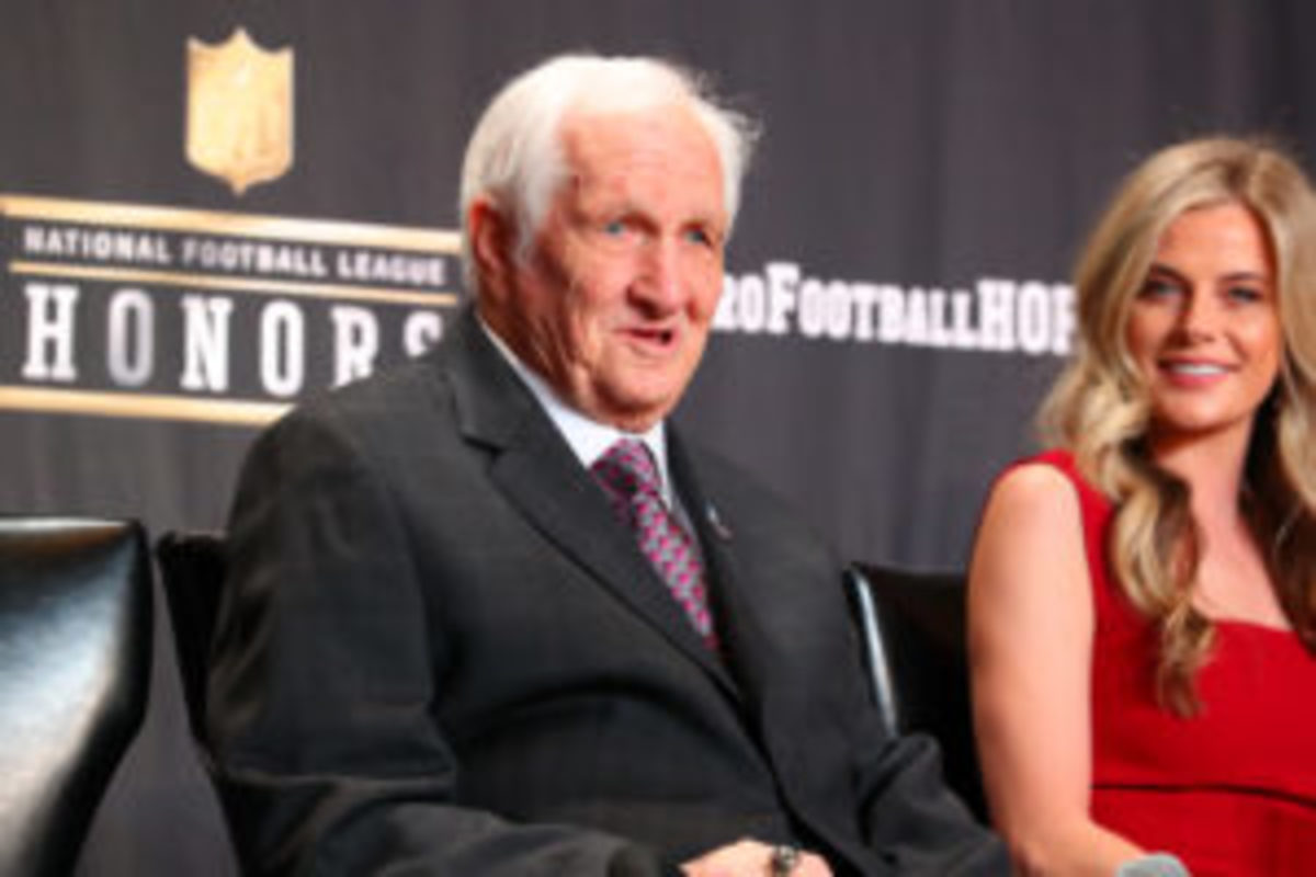 Pro Football Hall of Fame inductee Gil Brandt on February 2, 2019 at the Fox Theatre in Atlanta, Georgia. Photo by Rich Graessle/Icon Sportswire via Getty Images