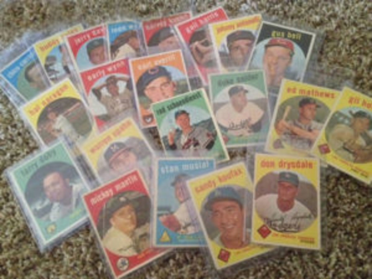 A few of the 1959 Topps Baseball card set found at an outdoor flea market. Purchase price: $40. (Submitted photo)