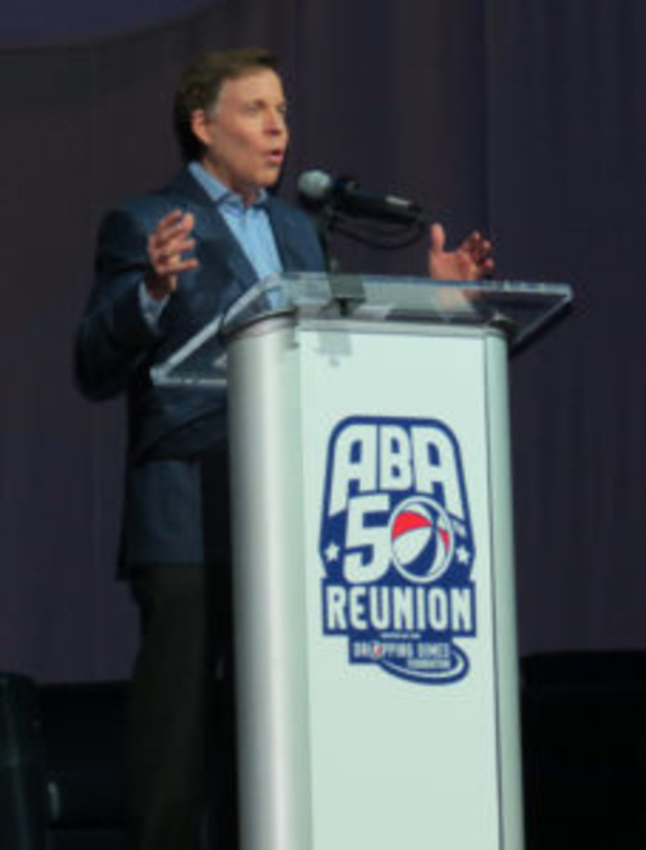 Bob Costas served as the Master of Ceremonies for the ABA 50th Anniversary Reunion gala.